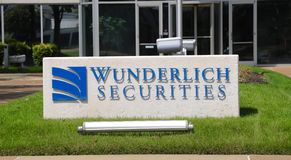 Wunderlich Securities Sign Stock Photography