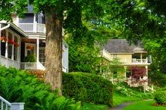 Wunderliche alte Häuser Stockfoto