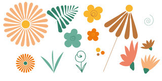Wunderliche Blumen eingestellt Lizenzfreie Stockfotografie