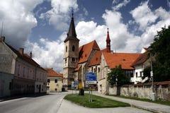Wunderliche europäische Straße Stockbild