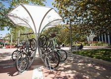Wunderliche Fahrradstation in Palo Alto, aeria Sans Fransisco Bay, Lizenzfreie Stockfotografie