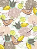 Wunderliche Naturblüte und -vögel Stockfoto