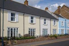 Wunderliche Reihenhäuser in Hythe, Kent, Großbritannien Lizenzfreie Stockbilder