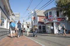 Wunderliche Straße in Provincetown Stockfoto