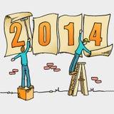 Wunderliche Zeichnung des neuen Jahres Stockbild