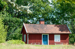 Wunderlicher traditioneller roter Swedish Stockbilder