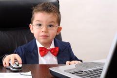 Wundernder Geschäftsmann lizenzfreies stockfoto