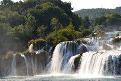 Wundervolle Wasserfälle von Krka Sibenik, Kroatien Lizenzfreie Stockbilder