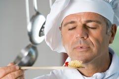 Wundervolles Aroma der frischen Nahrung! stockfoto