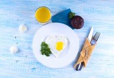 Wunsch des guten Morgens Frühstück für geliebtes Lizenzfreie Stockfotografie