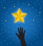 Wunsch, einen Stern zu erhalten Stockbild