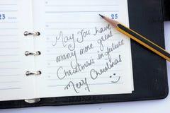 Wunsch eines Weihnachten Stockbilder