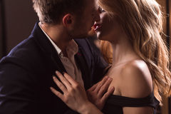 Wunsch zwischen Mann und Frau Stockbild