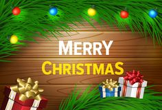 Wunschkarte der frohen Weihnachten Lizenzfreie Stockfotografie