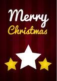 Wunschkarte der frohen Weihnachten Lizenzfreies Stockbild
