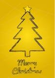 Wunschkarte der frohen Weihnachten Lizenzfreies Stockfoto