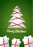 Wunschkarte der frohen Weihnachten Stockbild