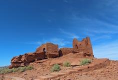 Wupatki国家历史文物的Wukoki镇在旗竿, Arizo附近 库存图片
