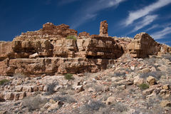 Wupatki National Monument. Less than 800 years ago, Wupatki Pueblo was the largest pueblo around. It flourished for a time as a meeting place of different royalty free stock photo