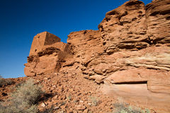 Wupatki  National Monument near Flagstaff, Arizona Royalty Free Stock Images