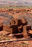 Wupatki Pueblo, het Nationale Monument van Wupatki Stock Foto's
