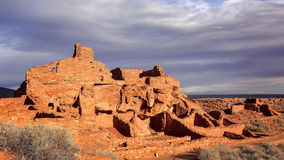 Wupatki Pueblo Ruins in Arizona Royalty Free Stock Photos