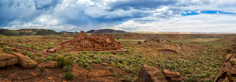Wupatki pueblo ruins  National Monument, Arizona Stock Photography