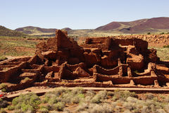 Wupatki pueblo ruins Royalty Free Stock Photo