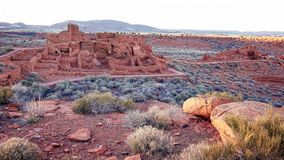 Wupatki Pueblo at Wupatki National Monument in Arizona Stock Images