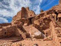 Wupatkipueblo ruïneert Nationaal Monument, Arizona Stock Afbeelding