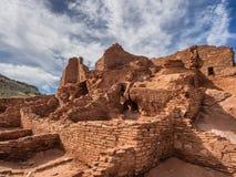 Wupatkipueblo ruïneert Nationaal Monument, Arizona Royalty-vrije Stock Foto