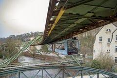Wuppertal-Suspendierungs-Eisenbahn Stockbild