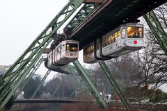 Wuppertal-Suspendierungs-Eisenbahn, Deutschland Stockfotografie