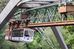 The Wuppertal suspension railway, Germany Stock Photos