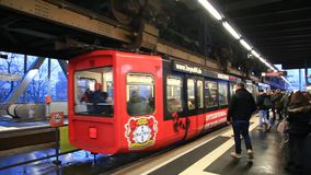 Wuppertal Suspension Railway stock video footage