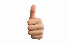 Wurde ein Symbol für hervorragende Leistung in allen Bereichen Hand auf weißem Hintergrundbeschneidungspfad lizenzfreie stockfotografie
