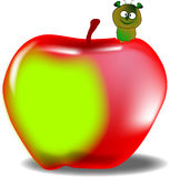 Wurm im Apfel Lizenzfreies Stockfoto