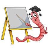 Wurm mit Tafel vektor abbildung