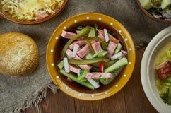 Wurst bavarois Salat Image stock