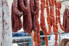 Wurst e salsiccia Fotografia Stock