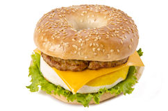 Wurst-Ei und Käse-Frühstück Stockfotografie