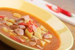 Wurst goulash with chili Stock Image
