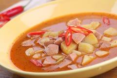 Wurst goulash with chili Royalty Free Stock Image