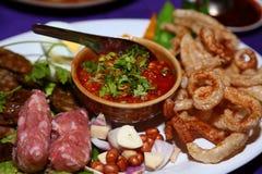 Wurst, Lebensmittel von Nord-Thailand Lizenzfreies Stockfoto