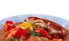 Wurst mit Gemüse Lizenzfreies Stockfoto