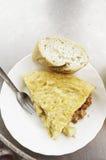 Wurst-Omelett Lizenzfreie Stockfotografie