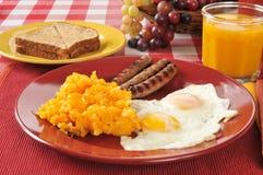 Wurst- und Eifrühstück Lizenzfreie Stockfotografie
