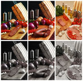 Wurst y salami turcos Imagen de archivo
