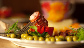 Wurst zum ein Frühstück Lizenzfreie Stockfotografie