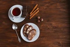 Wurstkeks der süßen Schokolade lizenzfreie stockbilder